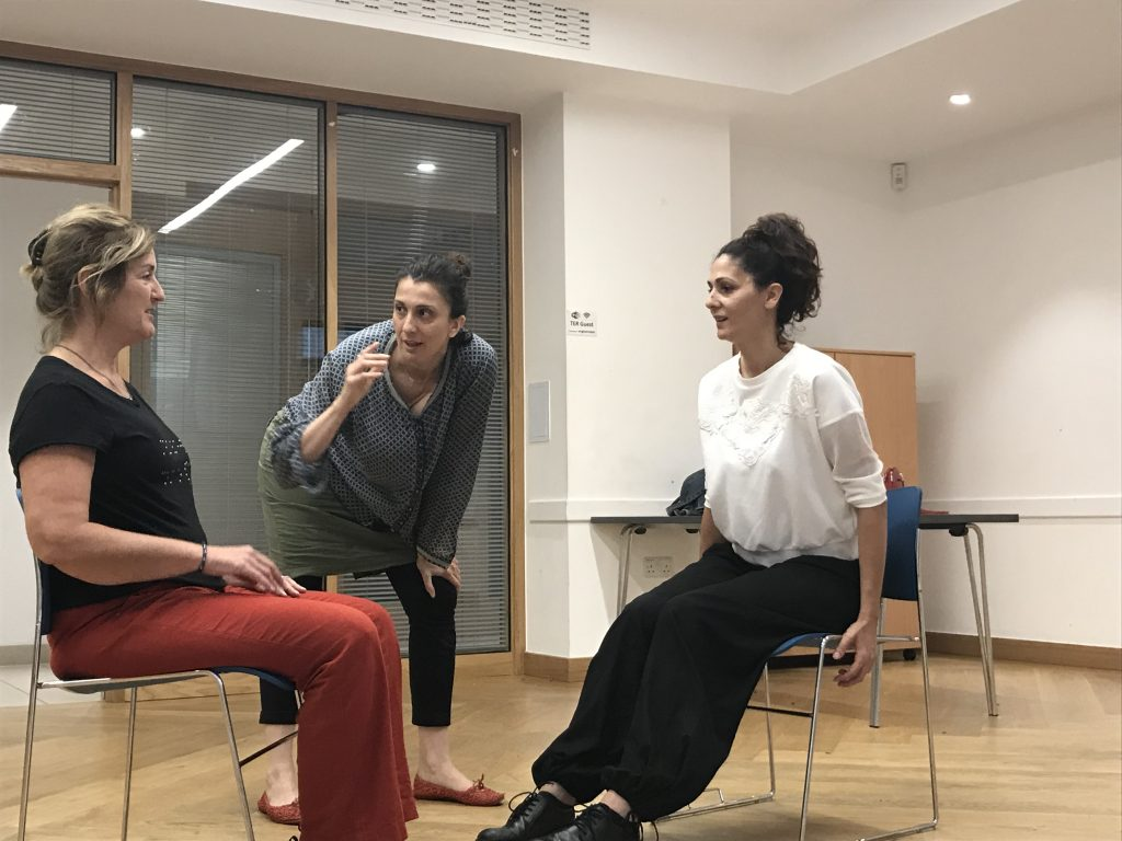 3 LegalAliens actors train and rehearse at the Engine Rooms in Tottenham.