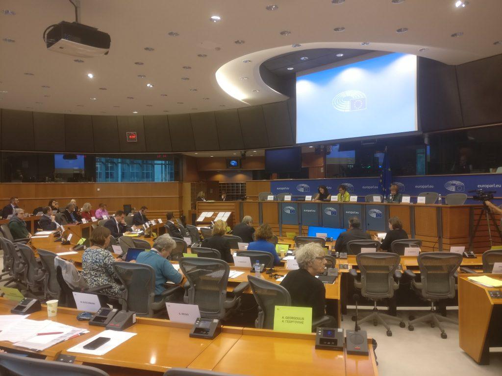 meeting in at Euorpean Parliament progress